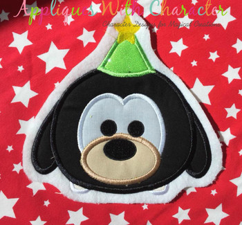 Christmas Goofie Tsum Tsum Applique Design