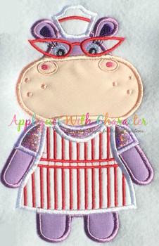 Doc McStuffins Hallie Hippo Applique Design