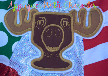 Christmas Vacation Moose Mug Applique Design