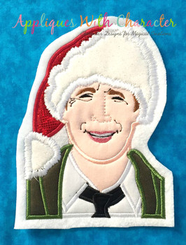 Christmas Vacation Clark Bust Applique Design