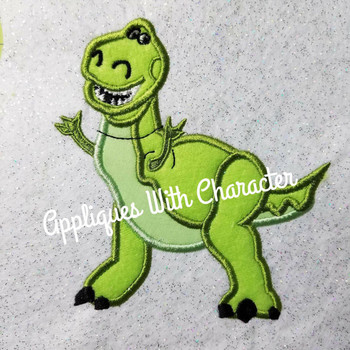 Toy Story Rex Dinosaur Toy Applique Design