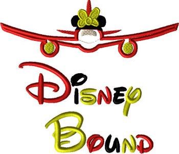 Disney Bound Minny Airplane Saying Applique Design