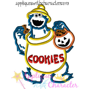 Halloween Cookie Monster Applique Design
