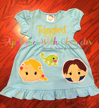 Rapunzella Tsum Tsum Applique Design
