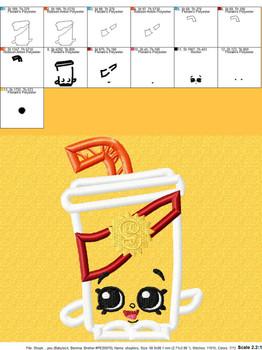 Shopikins Soda Pop Applique Design