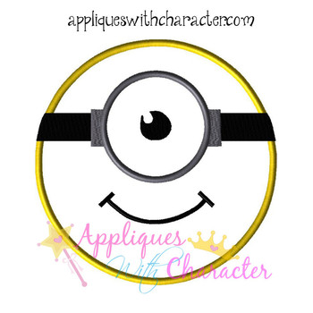 Minione Face Applique Design