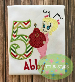 Grinchy Cindy Loo Who Applique Design