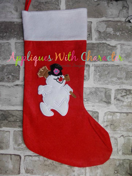 Frostee Snowman Applique Design