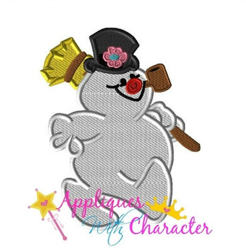 Frostee Snowman Embroidery Design