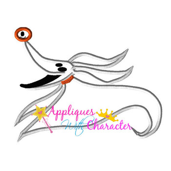 Nightmare Before Christmas Zero Applique Design