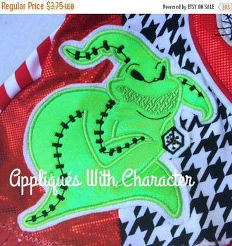 Nightmare Before Christmas Oogie Boogie Applique Design