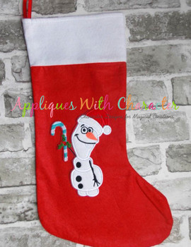 Frozen Olaf Snowman Christmas Applique Design