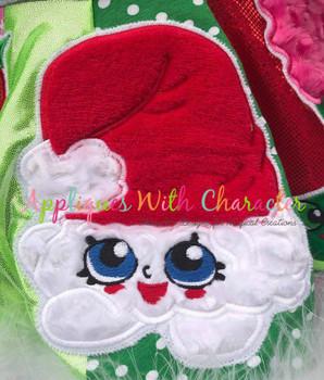 Shopikins Christmas Santa Hat Applique Design