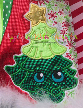 Shopikins Christmas Tree Applique Design
