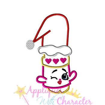 Shopikins Christmas Lipstick Applique Design