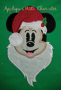 Mickie Santa  Applique Design