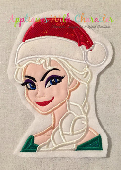 Frozen Elsa Christmas Applique Design