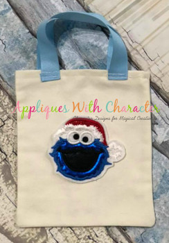 Christmas Cookie Monster Applique Design
