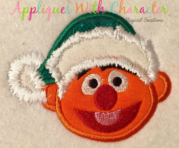 Christmas Ernie Monster Applique Design