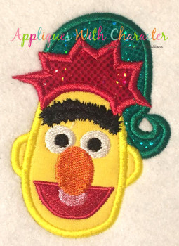 Christmas Bert Applique Design