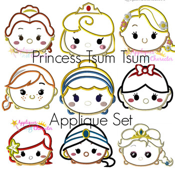 Princesses Tsum Tsum Applique Set