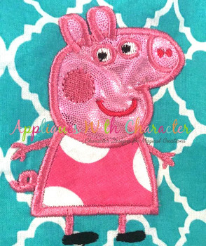 Pepper Pig  Applique Design