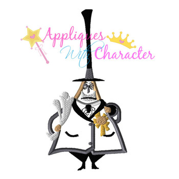 Nightmare Before Christmas Mayor Applique Design