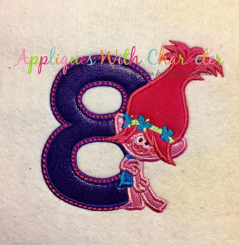 Pop Troll Eight Applique Design