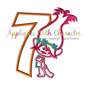 Pop Troll Seven Applique Design