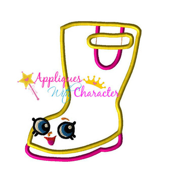Shopkins Rain Boot Applique Design Embroidery Machine Design