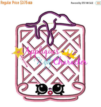 Shopkins Waffle Applique Embroidery Machine Design