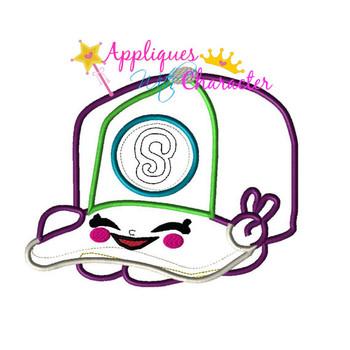 Shopkins Baseball Cap Hat Applique Embroidery Machine Design
