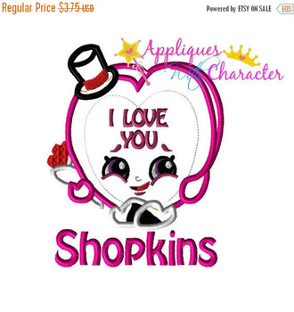 Shopkins Wishes Birthday Cake Applique Design By Appliques With