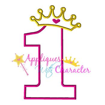 Princess ONE Applique Design