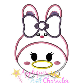 Daizy Duck Easter Bunny Tsum Tsum Applique Design