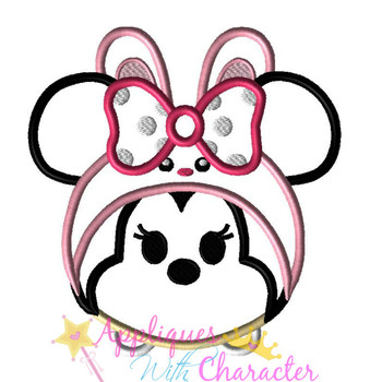 Miss Mouse Easter Bunny Tsum Tsum Applique Design