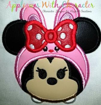 Miss Mouse Easter Bunny Tsum Tsum Applique Design