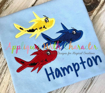 Red Fish Applique Design