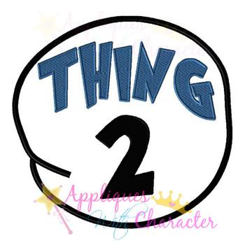 Thing 2 Circle Applique Design