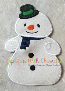 Doc Mcstuffons Chillie Snowman Applique Design