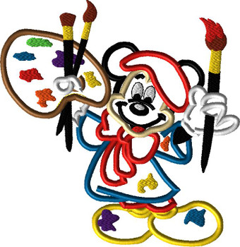 Mr Mouse Animators Palate Applique Design