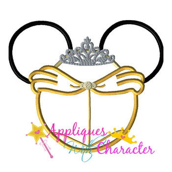 Beauty Bella Mr Mouse Head Applique Design