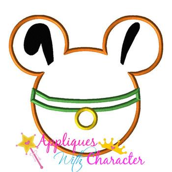 Plooto Mr Mouse Head Applique Design