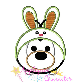 Goofie Easter Bunny Tsum Tsum Applique Design