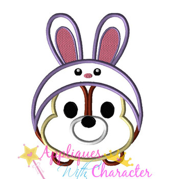 Chip Easter Bunny Tsum Tsum Applique Design