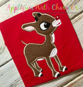 Rudy Reindeer Applique Design
