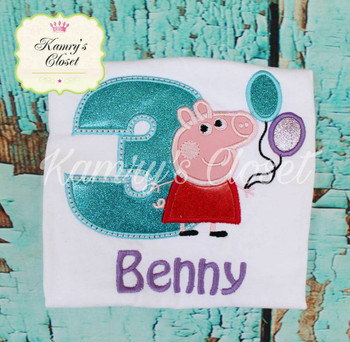 Pepper Pig THREE Applique Design