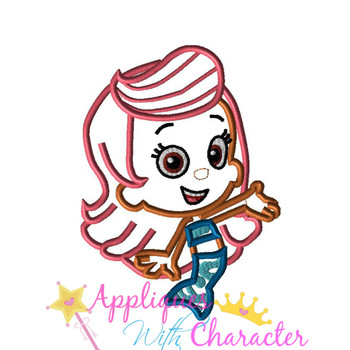 Bubble Girl Molly Applique Design