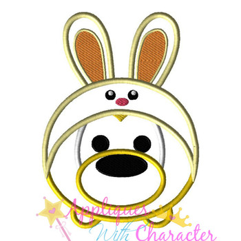 Plooto Easter Bunny Tsum Tsum Applique Design