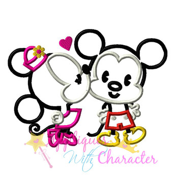 Kissing Miss Mouse Applique Design